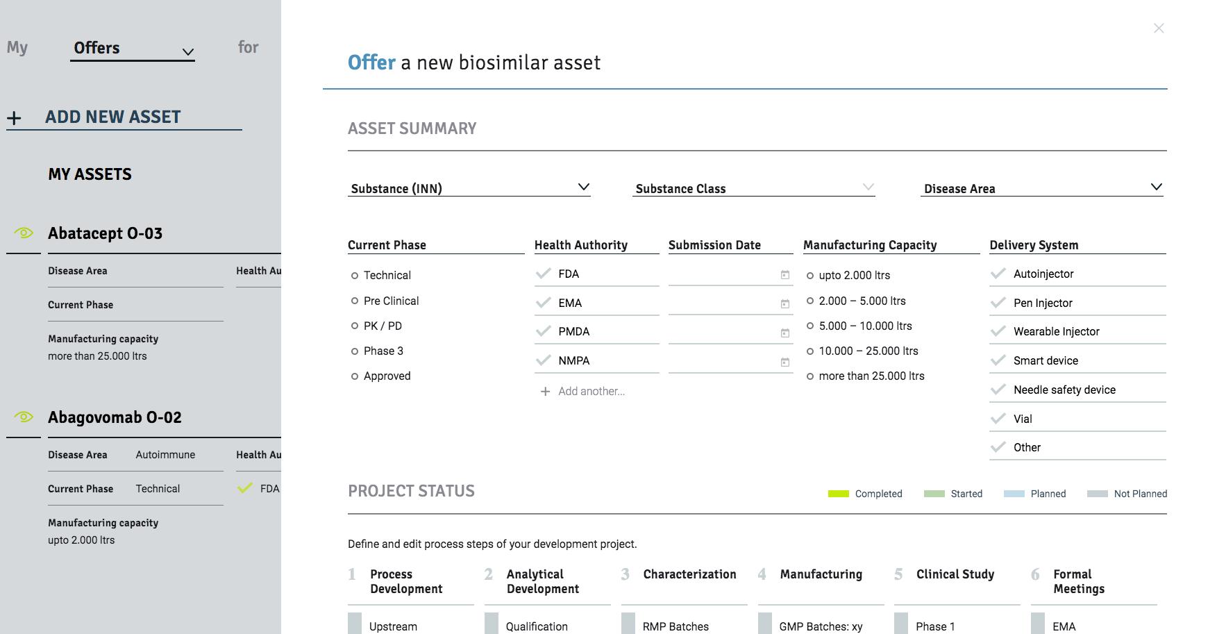 bioseet new assets